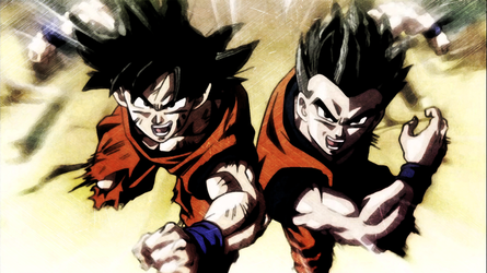 DBS Lacco Tower Ending Goku And Gohan HD Wallpaper By Ygoofficial On DeviantArt