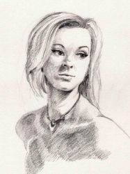 Life Drawing Portrait - Ellie by Naughty-UK