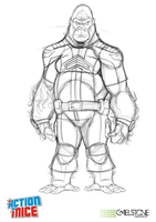 Action Mice Character Boot Camp pencils by stourangeau