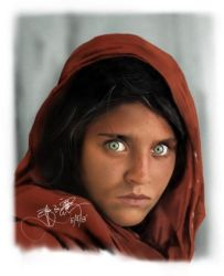 Afghan Woman featured in National Geographic by fRancisChong