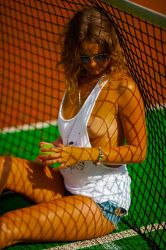 portrait of a tennis player by DenisGoncharov