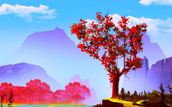 Redwood Valley speed paint by bungyx