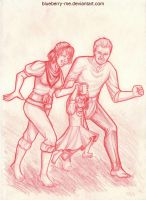 Comm-Hawke/Vael family by Blueberry-me