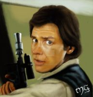 Han Solo by wolfieous