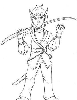 Elven Swordsman by The-Great-RKL