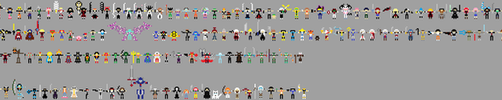 pixelized characters by axellkl