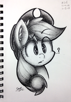 Inquisitive Apple by sheandog