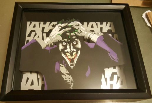 Brian Bolland Joker tribute - 3d papercut by DrClockwise