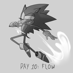 Inktober Day 10: Flow by Lallelol