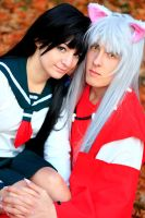 Inu Yasha and Kagome by Misamon