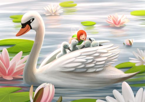 Swans by Ansheen