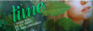 Banner #1 -Time- by SmilerGorl9