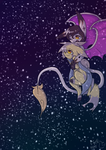 Flying in the stars by Winter-The-Fox