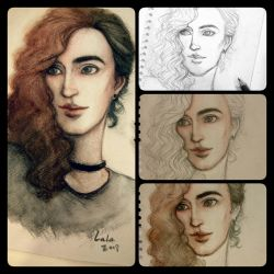 Androgynous (drawing process) by Lalawu29