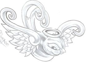 Swallow Angel Tattoo Design by 2Face-Tattoo