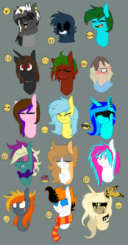 ::Face expressions meme:: Set2 by Llamalovers123