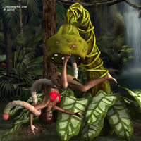 Island Plant Peril by LithographicDan