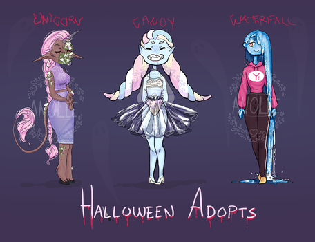 Halloween Adopts 15$ [OPEN] by Anolee