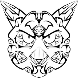 Tribal Glalie Tattoo by NewtonianNocturn