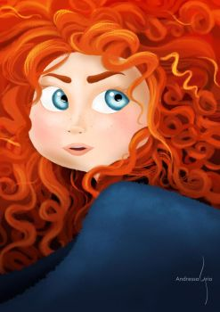 Merida - Fanart by AndressaLyrio