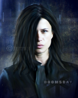 Rhona Mitra painting by perlaque