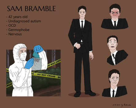 Commision: Sam Bramble reference sheet by Asderuki