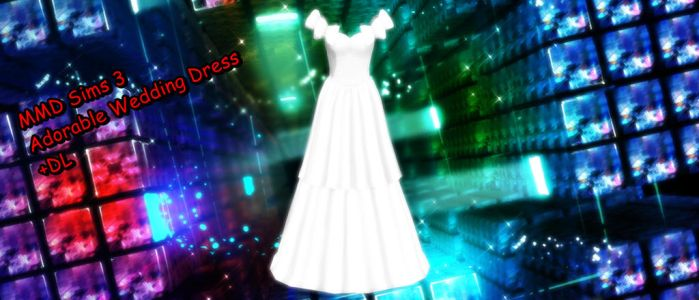 MMD Sims 3 Adorable Wedding Dress +DL by xXMMDStoreXx