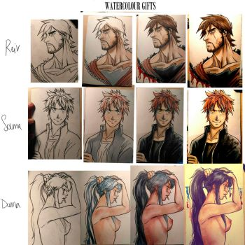 watercolor gifts process by black3