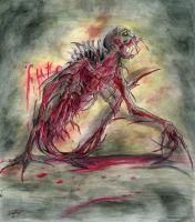 Necromorph Leaper by silverfang07