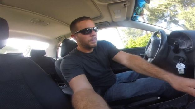 Craig Feigin testing the new GoPro in a car by CraigMatthew