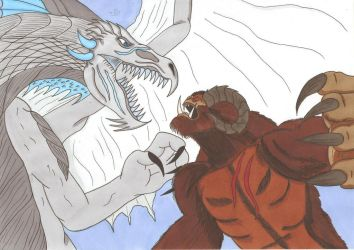 Critical Role - Vorugal vs Yenk by Tyrannuss555