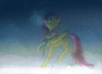 So many snowflakes! 2014 by WolfieDrawie