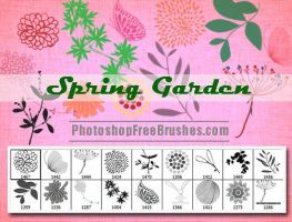 Spring Garden: Nature Photoshop Brushes by fiftyfivepixels