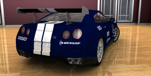 Jeremy's car ( Nissan Tunned GTR Blue ) 4 by TheRedCrown