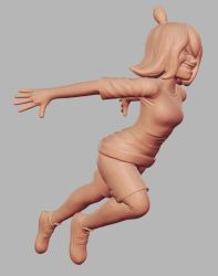 Angry Girl sculpt by Soutch