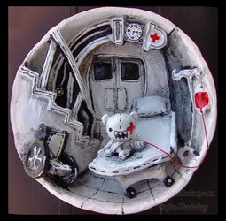 Round Hospital Room by bezzalair