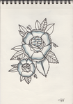 Traditional Flower Tattoo Design by D-ragonstone