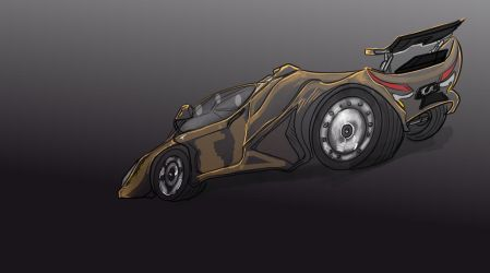 Car Exaggerated Sketch by mechaguy