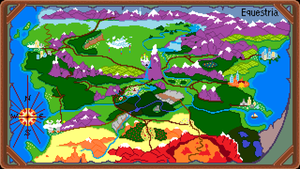 Map of Equestria (Larger) by WalrusInc