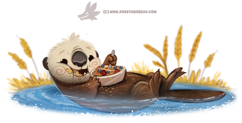 Daily Paint #1254. Oatter by Cryptid-Creations