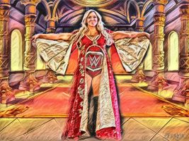 The Queen Of RAW Charlotte Flair by BlackIndian36