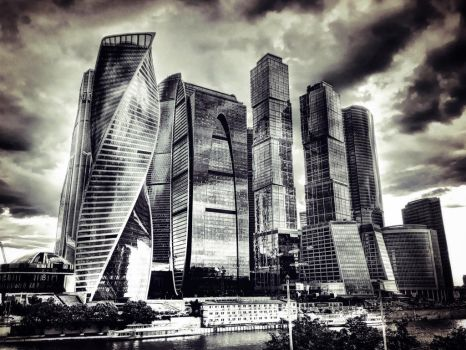 Moscow City perfect clouds made by me by ubinko