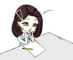 Blank Page Syndrome by otakufevah