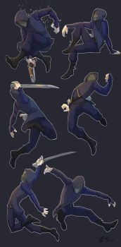 Some dishonored poses! by MonsieArts