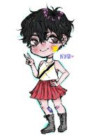 Chibi of@n_y_o_ on insta-chibi commission open by Shiratama1419