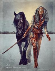 The Hunt Time - Adult Ciri by JustAnoR