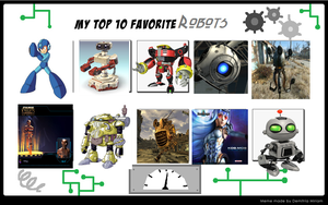 My Top 10 Favorite Good Robot in Videogames by ToaDJacara