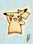 Pikachu iPad Drawing by IAMFX