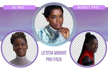 Letitia Wright PNG Pack by Weirdly-PNGS