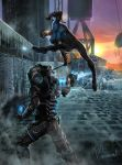 Nightwing VS Freeze - Commission by mansarali